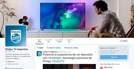 Twitter de Philips TV